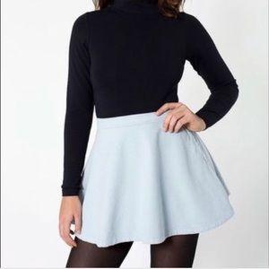 American apparel light blue corduroy circle skirt